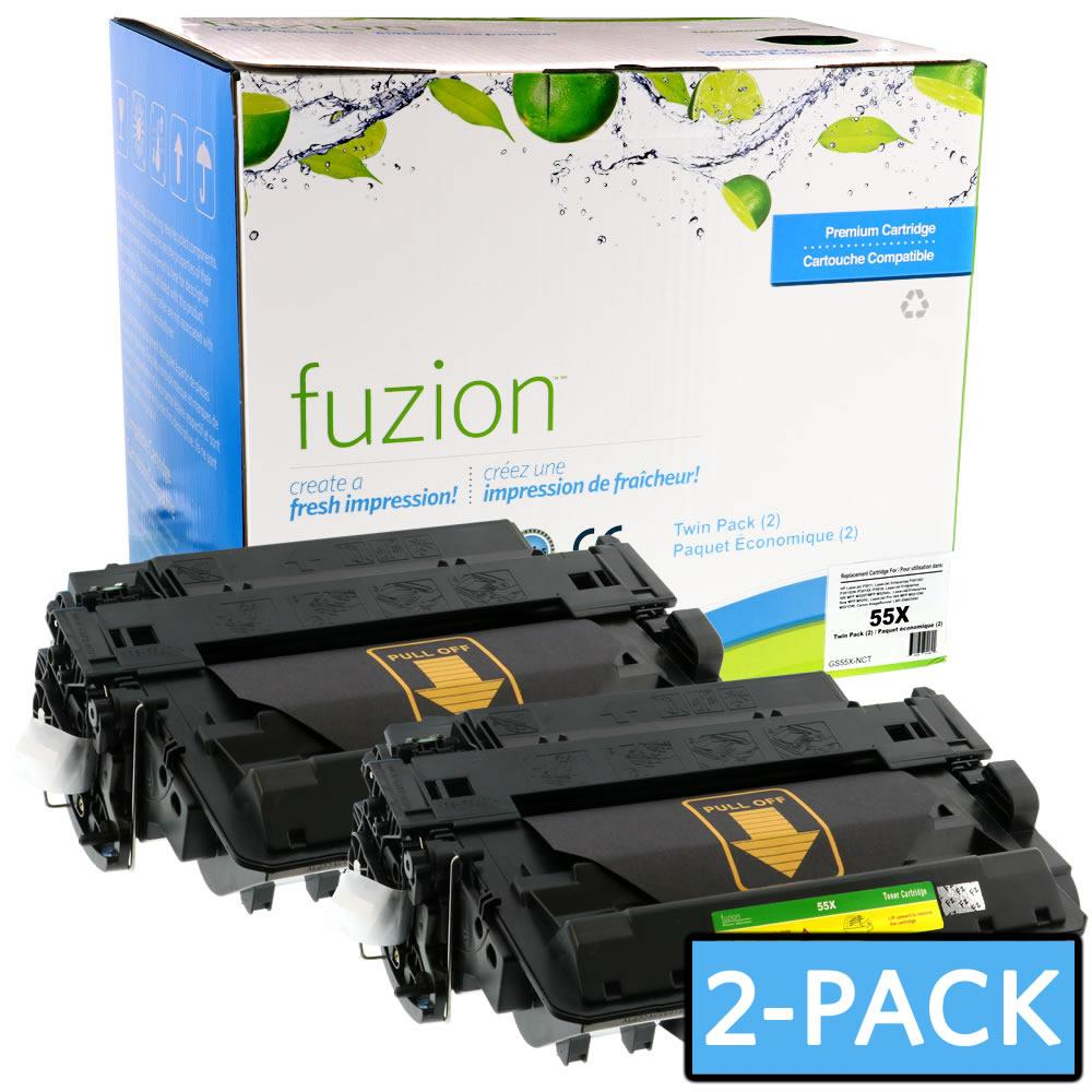 FUZION - HP CE255XD High Yield - MPS Twin Pack - Black