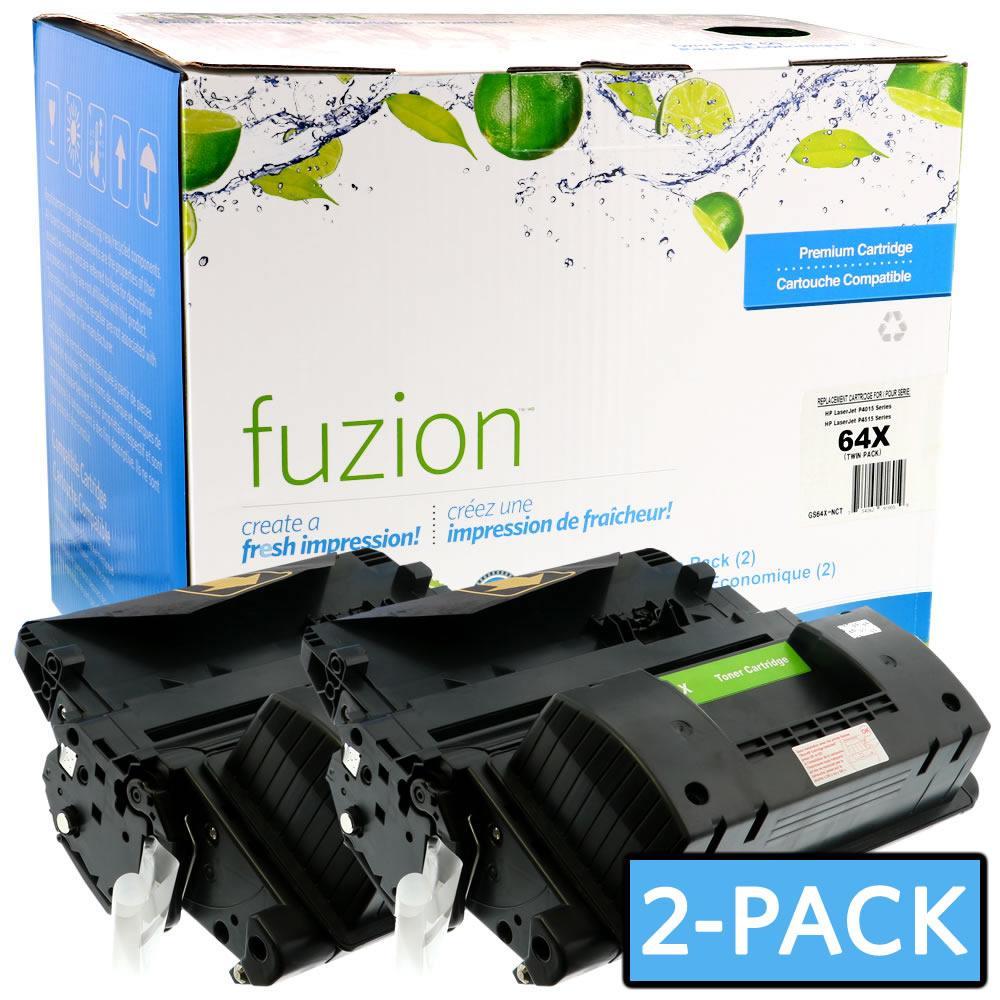 FUZION - HP CC364X High Yield Twin Pack - Black