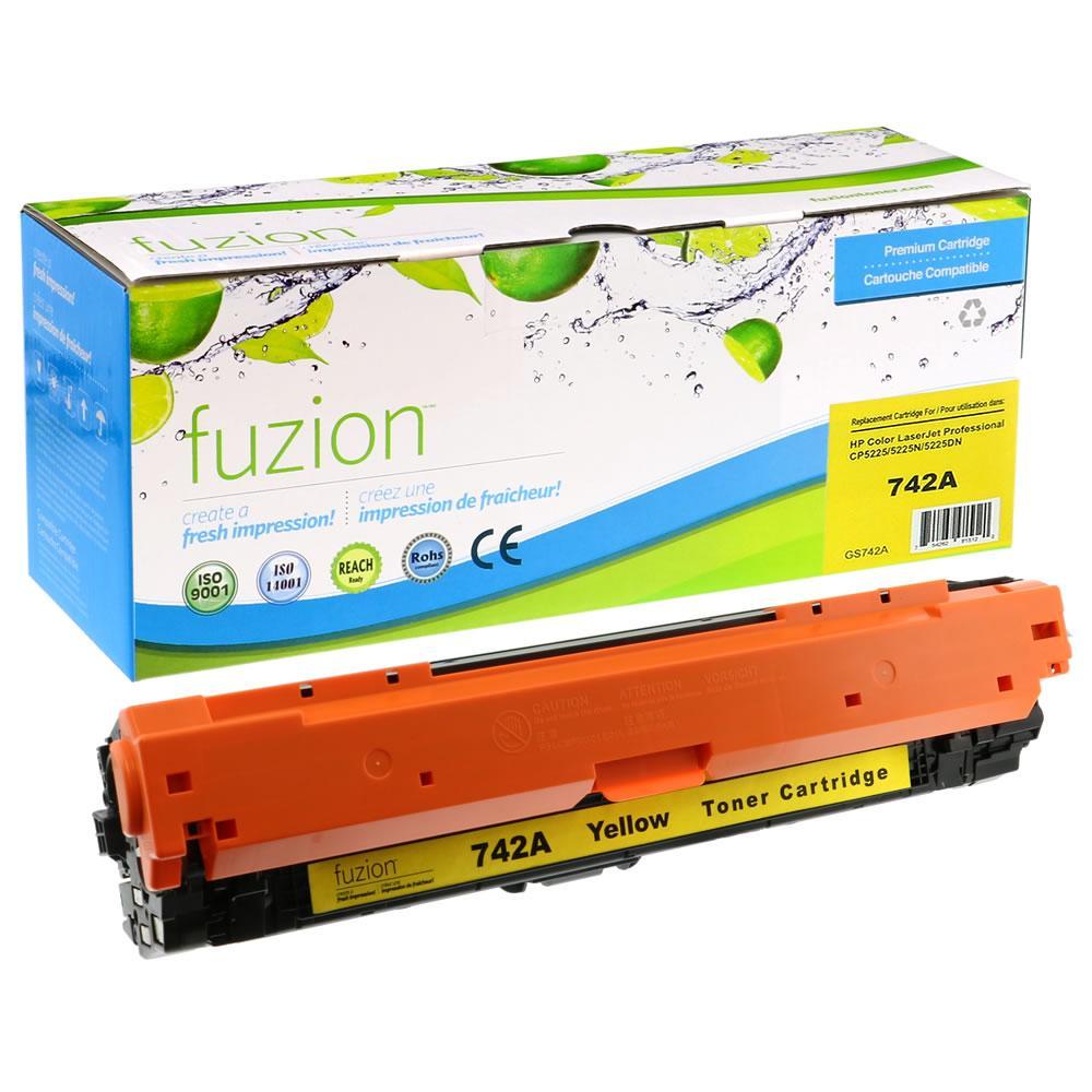 FUZION - HP Colour CE742A - Yellow