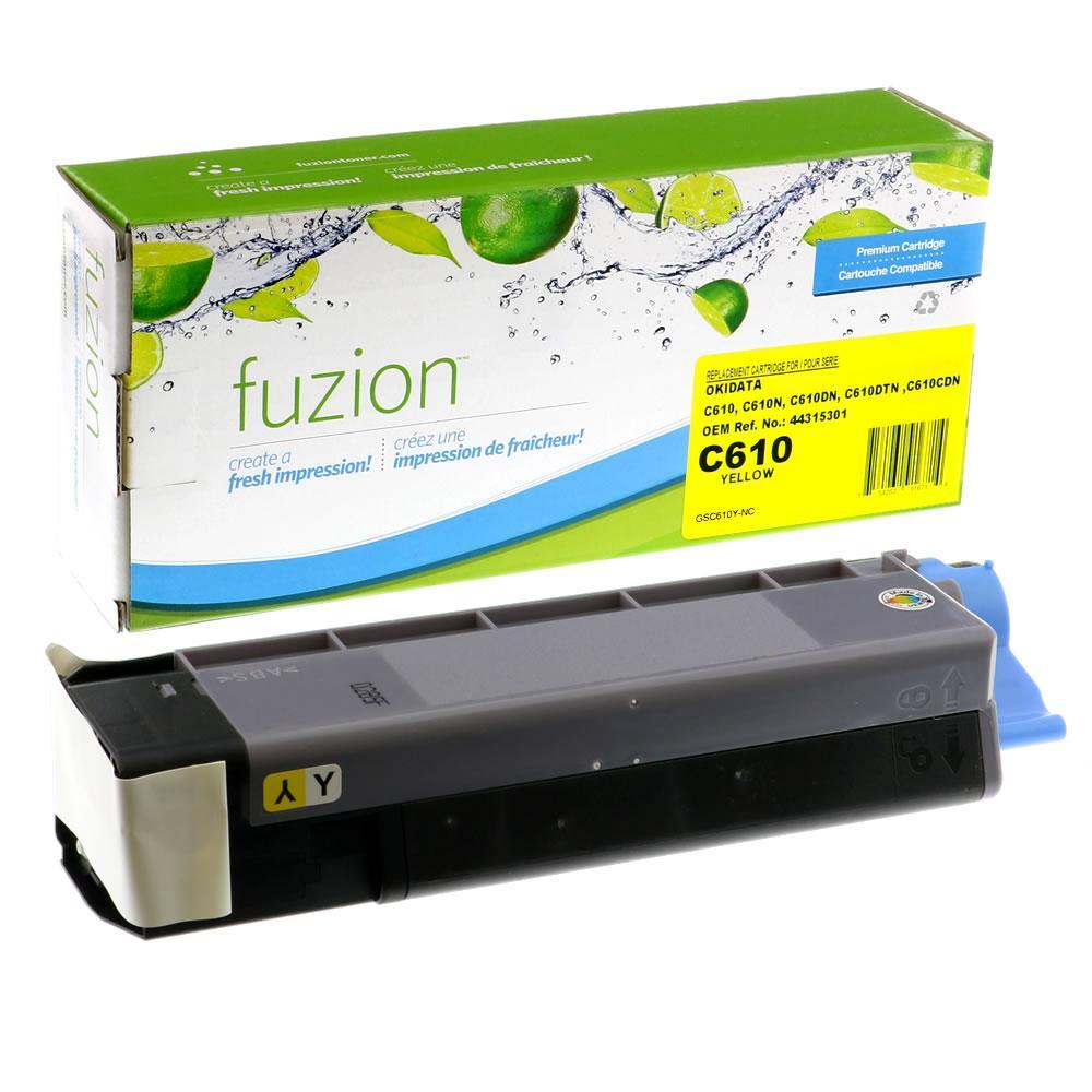 FUZION - Okidata C610 Toner - Yellow