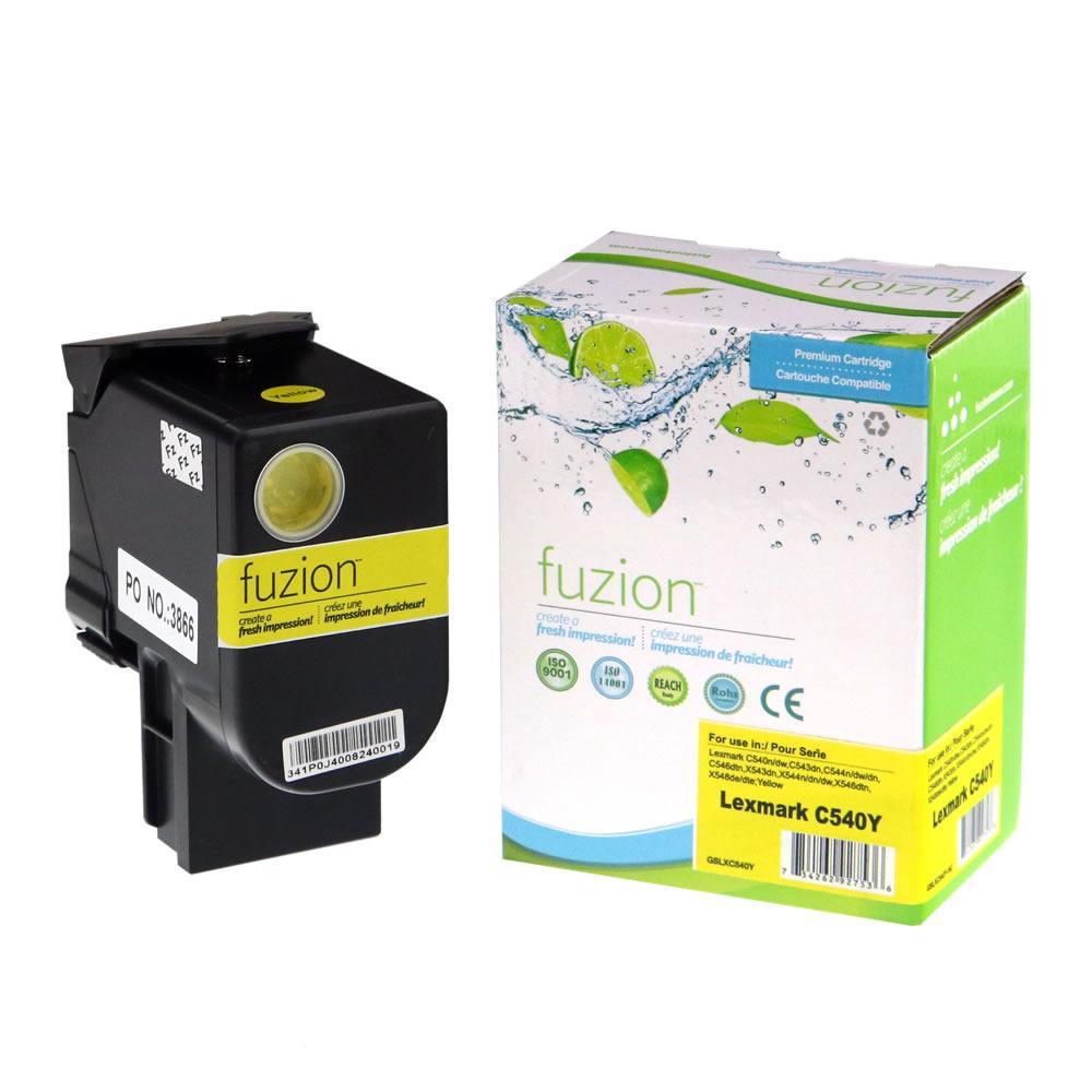 FUZION - Lexmark C540 Toner Cartridge - Yellow