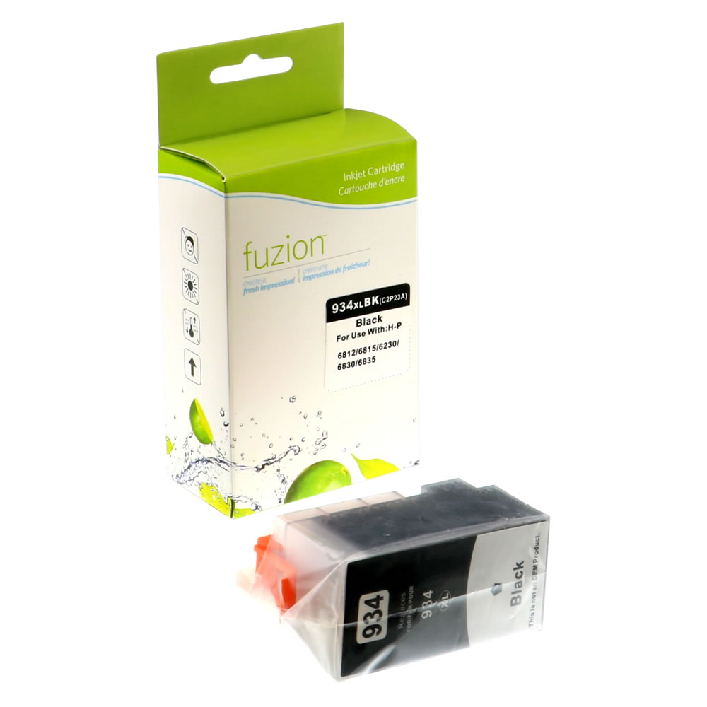 FUZION - HP #934XL Inkjet Cartridge - Black