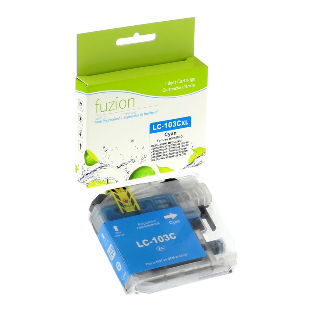 FUZION - Brother LC103 Inkjet - Cyan