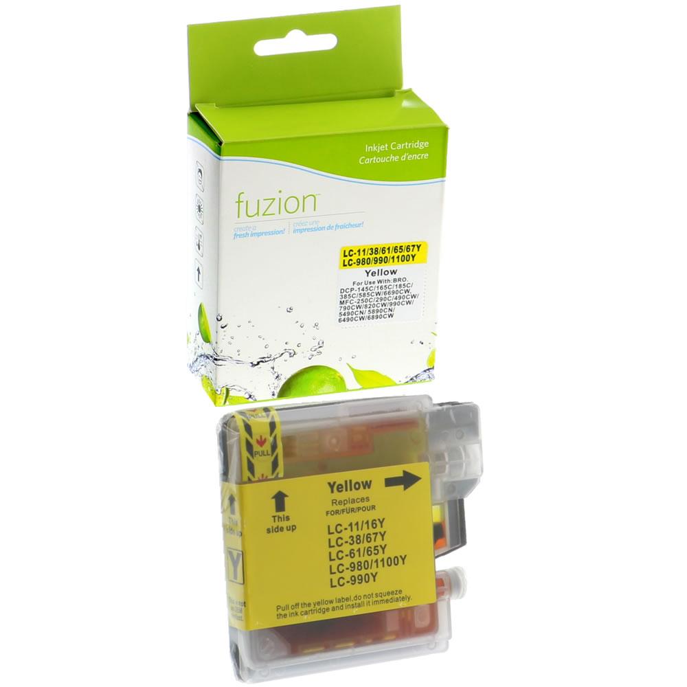 FUZION - Brother LC61 Inkjet - Yellow