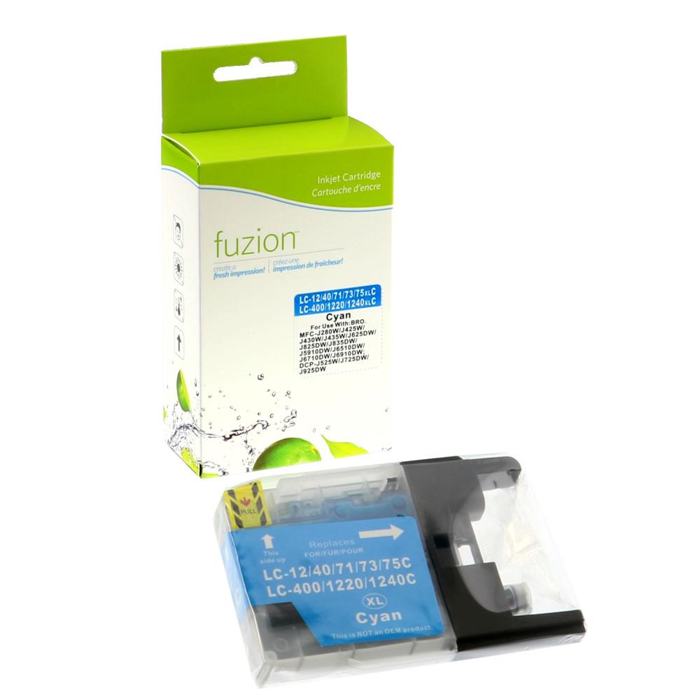 FUZION - Brother LC75 High Yield Inkjet - Cyan
