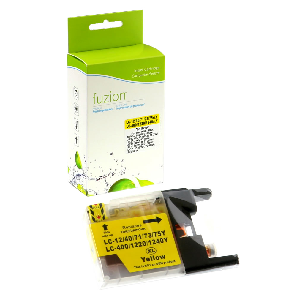 FUZION - Brother LC75 High Yield Inkjet - Yellow